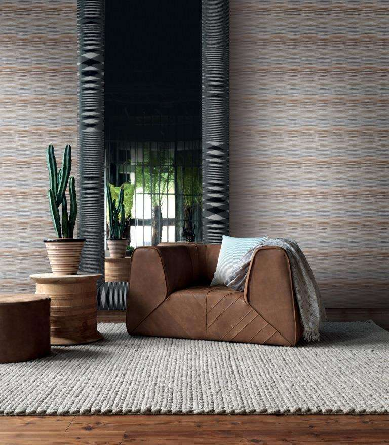 Salotti con carta da parati Missoni Home