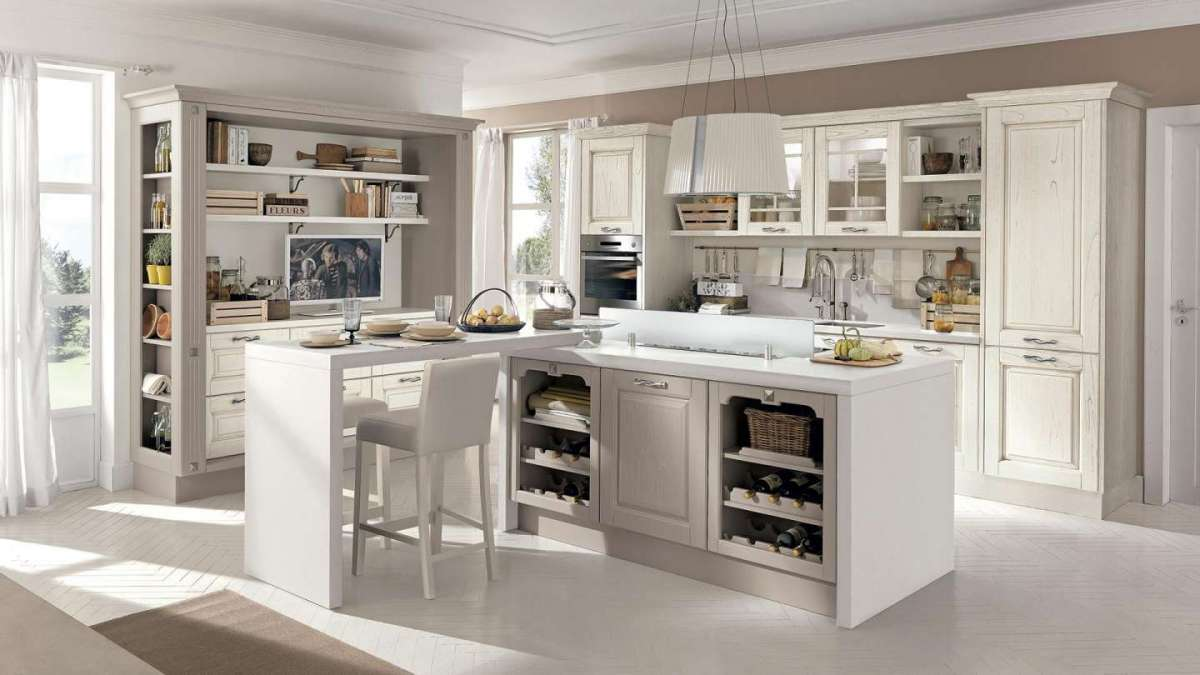 Cucine country con isola
