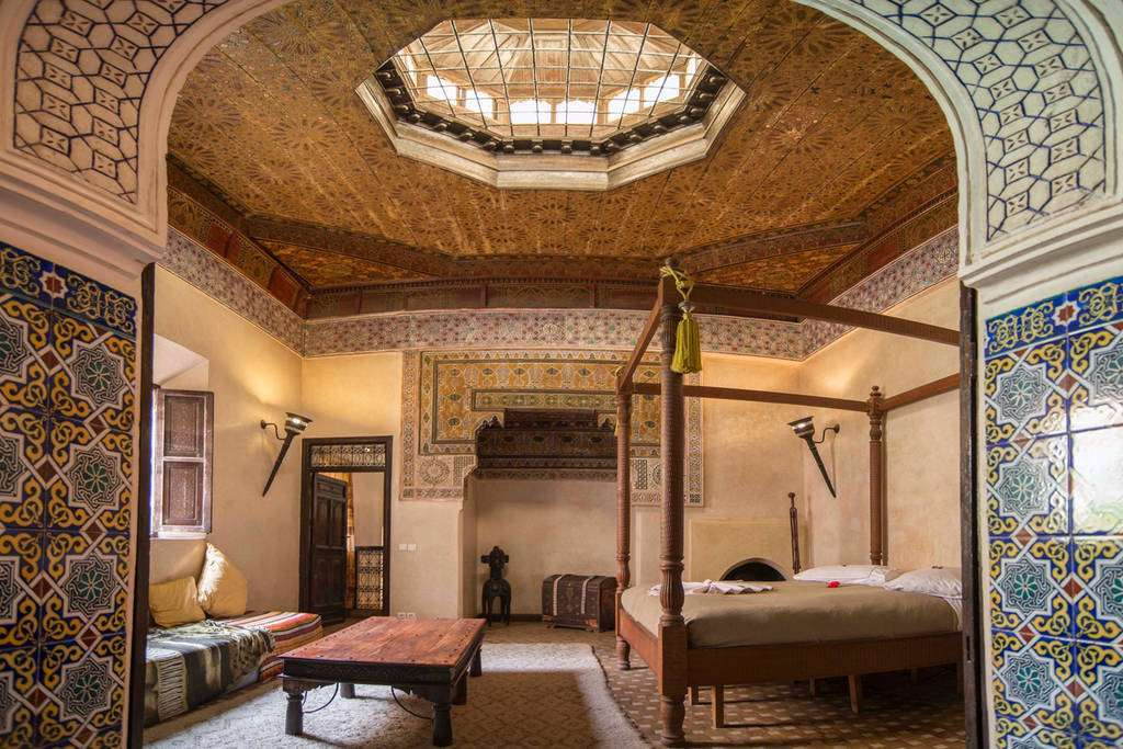 Marrakech in Marocco, camera da letto