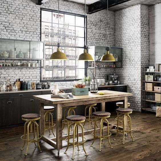 Industrial design in cucina