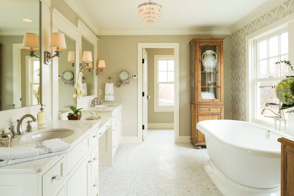 Bagno in stile country chic