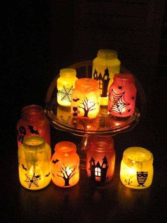 Barattoli luminosi per Halloween