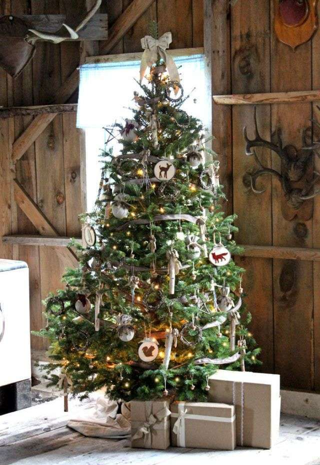 Albero di Natale country chic