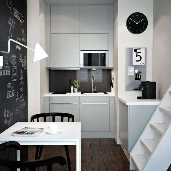 Compact living cucina