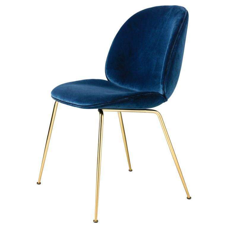 GUBI Bettle Padded Chair With Conic Base