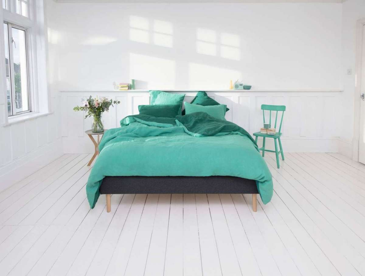 Lenzuola color verde acqua Eve Sleep
