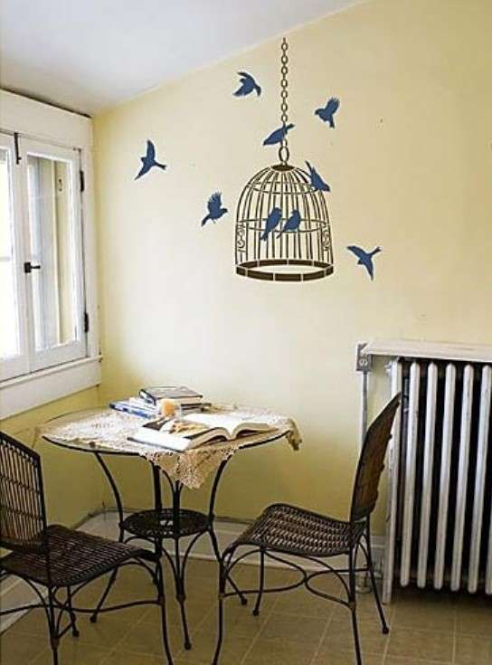 Decorazioni per pareti stencil e pittura foto design mag for Decorazione be u