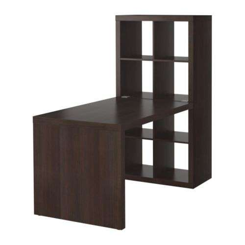 Scrivania Ikea Expedit marrone-nero