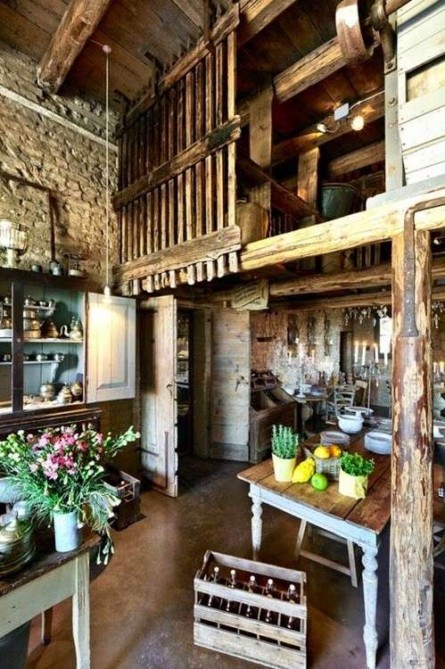 Cucina country in legno