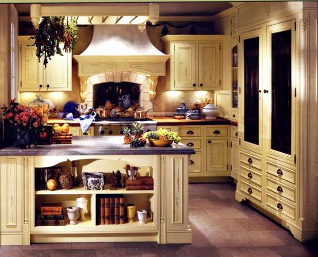 Cucina country, beige