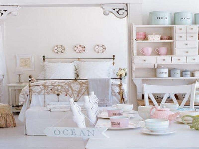 Cameretta decorata shabby chic