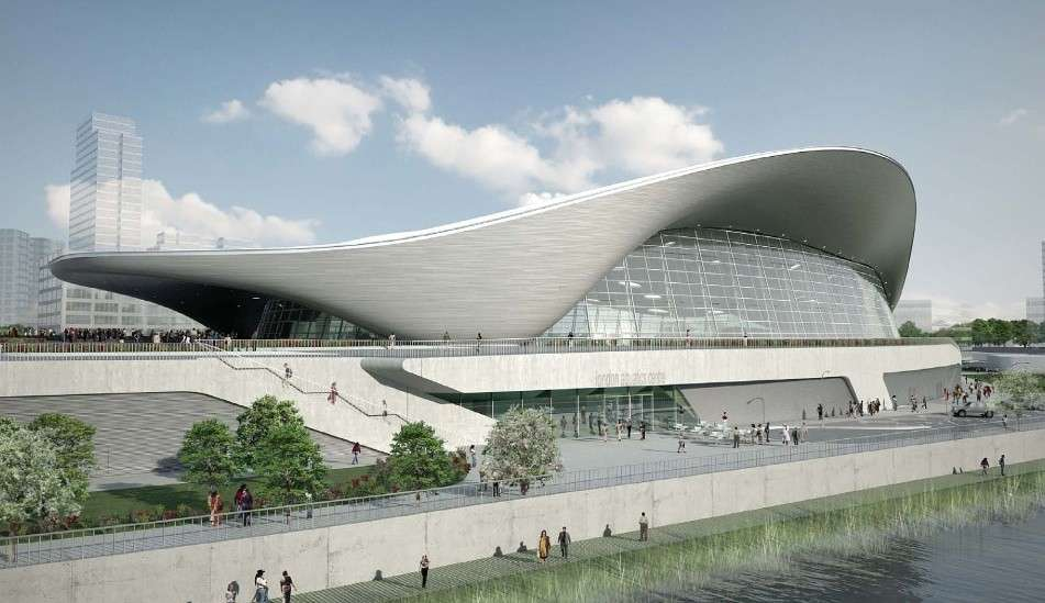 London Aquatics Centre di Zaha Hadid