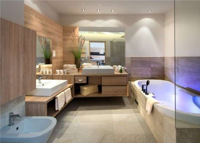 Bagno moderno in chalet