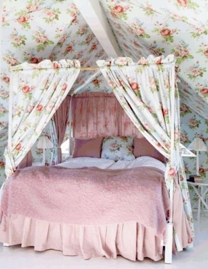 Letto stile shabby chic