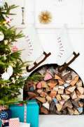 Calze di Natale in stile country