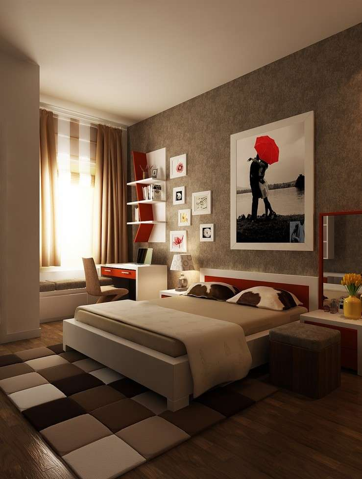 Arredare casa con il marrone foto 18 40 design mag for Brown and red bedroom decorating ideas