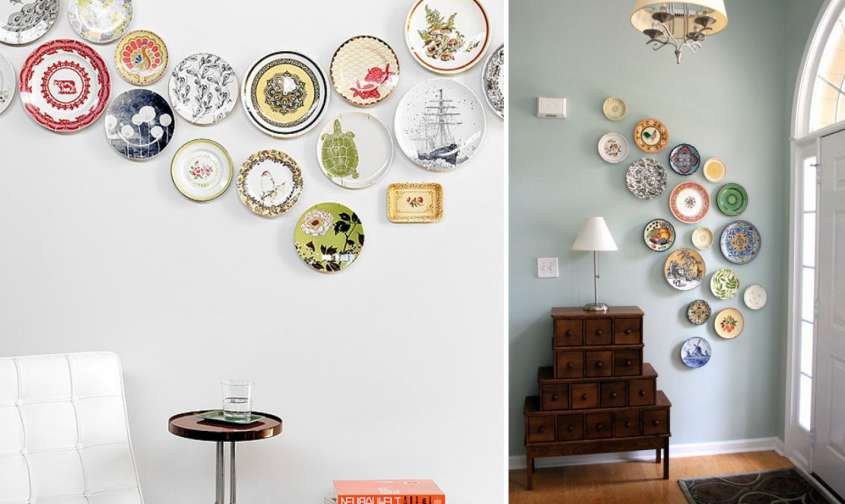 Decorare una parete con i piatti foto design mag - Come decorare i muri di casa ...