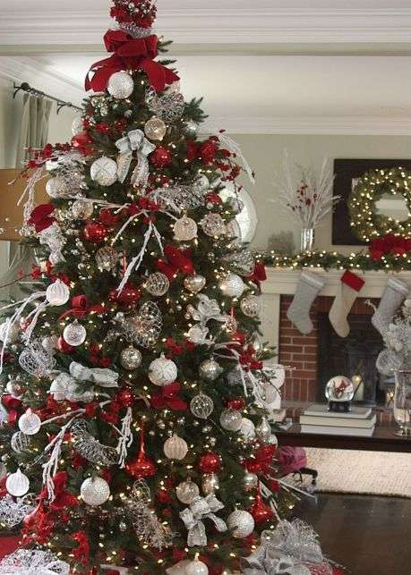 Silver And Gold Christmas Trees