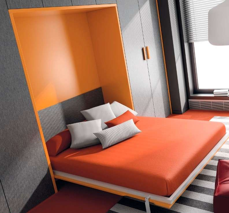 Letto matrimoniale a scomparsa foto design mag for Mondo convenienza rete matrimoniale