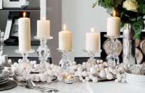Come decorare la tavola di natale in stile shabby chic
