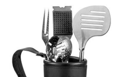 Accessori cucina: Set barbecue in sacca da golf