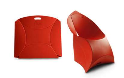 Flux Chair, la sedia pieghevole e trasportabile di Jacobs & Shouten