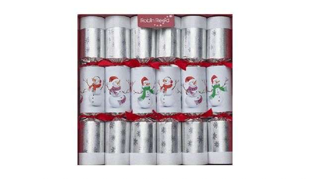 Christmas Crackers con pupazzi di neve