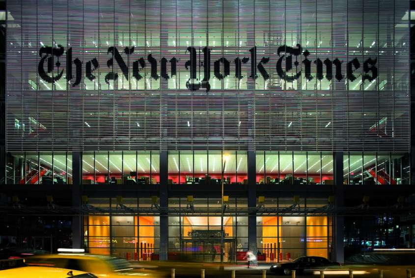 Sede del New York Times a New York