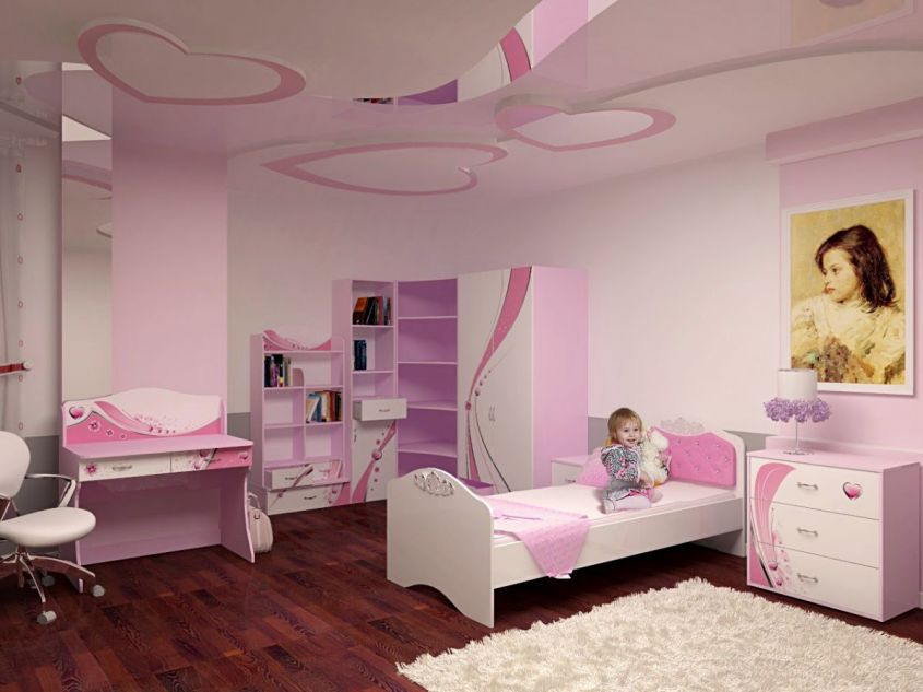 Soffitto decorato per le bambine