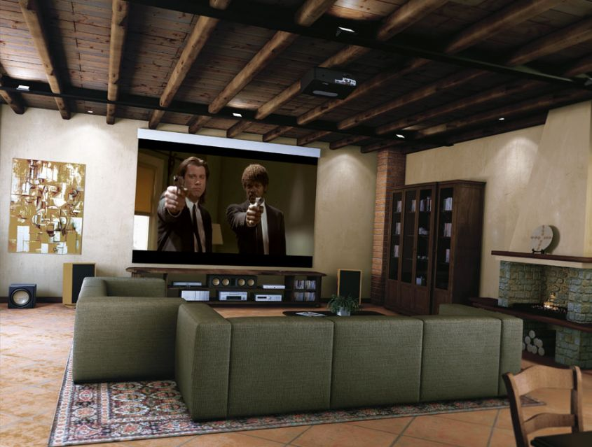 Stanza cinema in casa