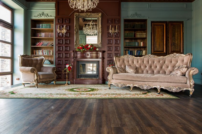 Luxury,Interior,Of,Home,Library.,Sitting,Room,With,Elegant,Furniture