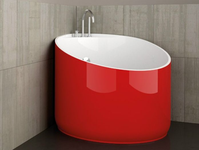 Vasca da bagno Mini Red Ferrari di Glass Design