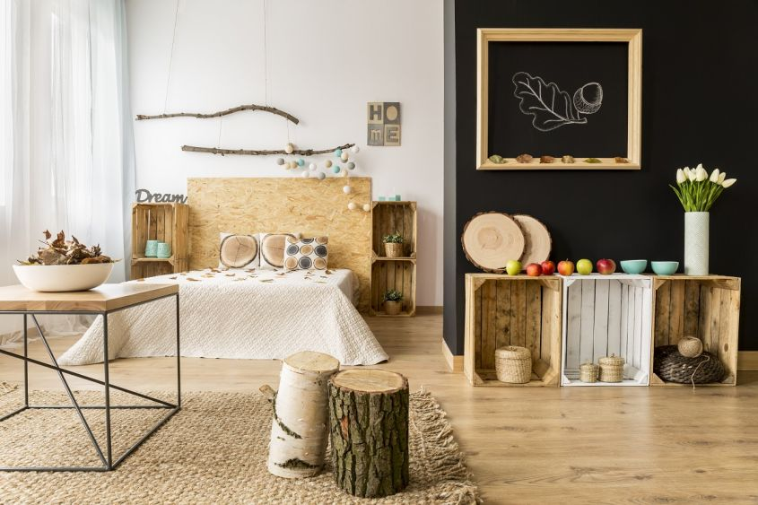 Cozy,Modern,Home,With,Decor,Inspired,By,Autumn