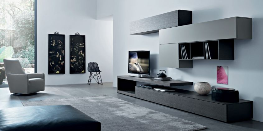 come arredare il soggiorno con il grigio le idee pi eleganti design mag. Black Bedroom Furniture Sets. Home Design Ideas