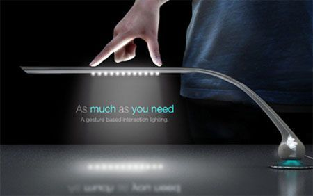 Lampada da tavolo a led u cas much as you needu d con sistema touch