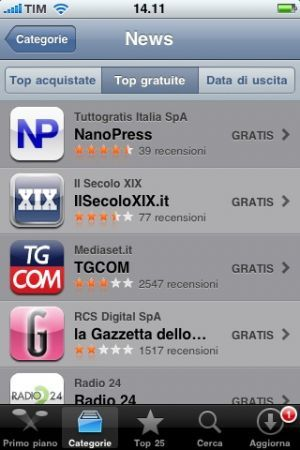 Design Mag nell'App di Nanopress: primo nella top news gratuite su IPhone