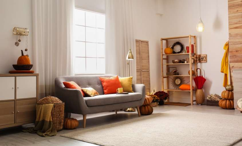 Cozy,Living,Room,Interior,Inspired,By,Autumn,Colors