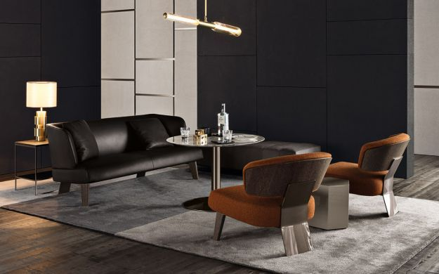 Creed Lounge sofa di Minotti
