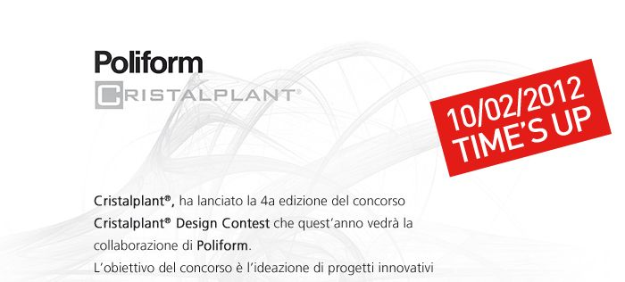 Cristalplant® Design Contest 2012 con Poliform