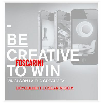 "Lampade Foscarini: concorso ""Do You Light? I like the Light!"""
