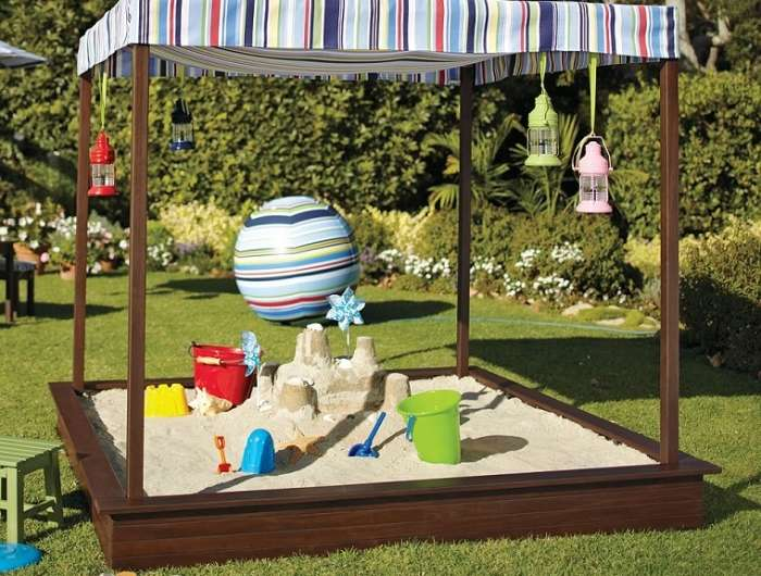 idee per arredare un giardino kids friendly sabbiera