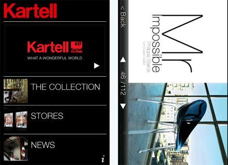 iPhone App Kartell: per veri appassionati di design