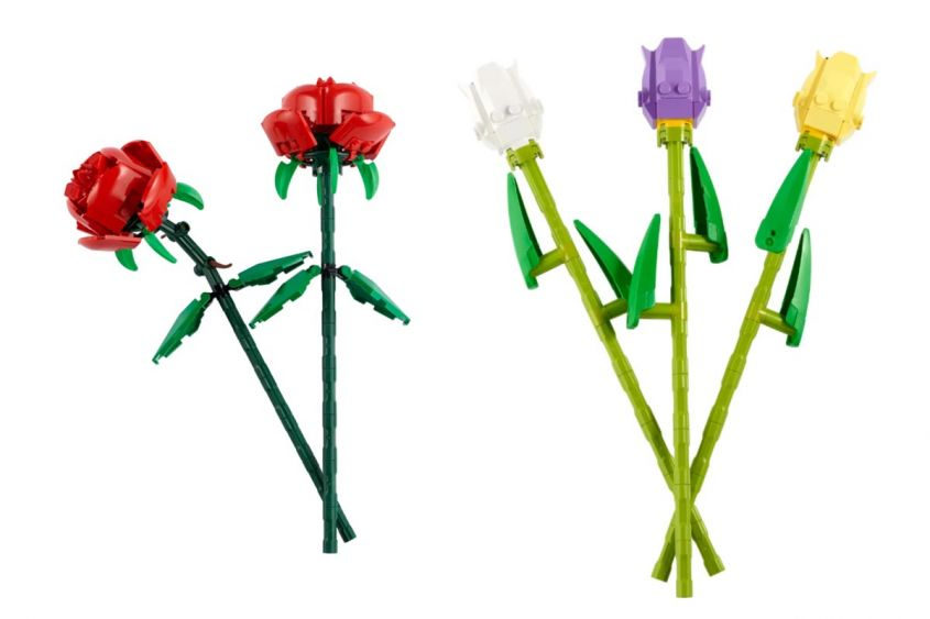 lego set rose tulipani