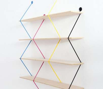 Libreria Serpent Shelves, colorata e componibile
