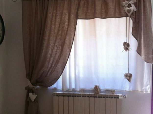 tenda per salotto shabby chic